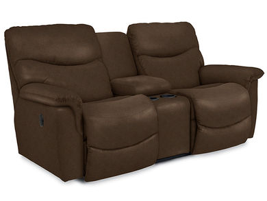 James Silt Reclining Console Loveseat