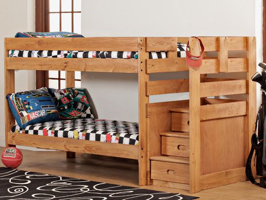 Twin Step Bunkbed Unclaimed Freight Furniture