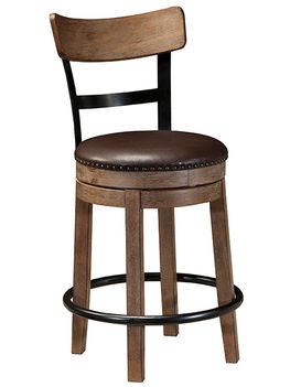 Pinnadel 24 inch Swivel Stool with Back