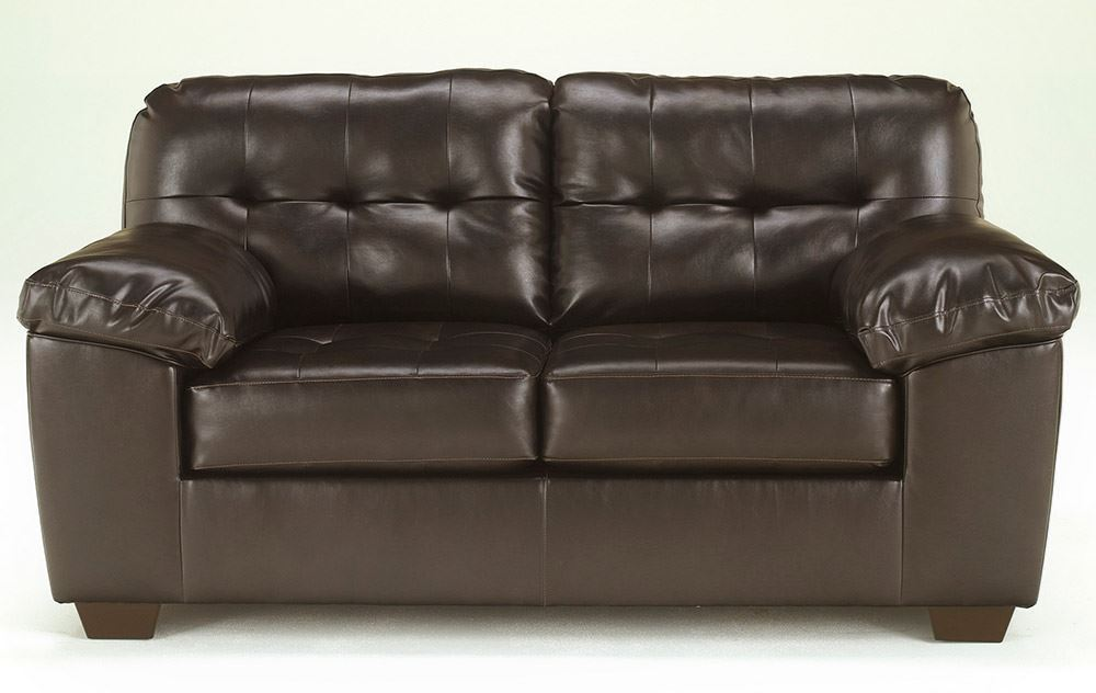 Picture of Alliston DuraBlend Chocolate Loveseat
