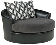 Kumasi Smoke Swivel Accent Chair