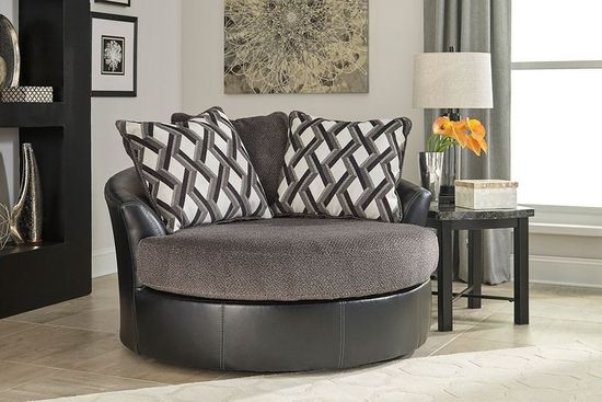 Picture of Kumasi Smoke Swivel Accent Chair