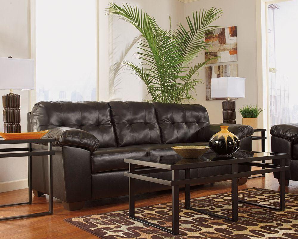 Alliston Durablend Chocolate Sofa The Furniture Mart