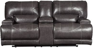 McCaskill Gray Power Reclining Loveseat