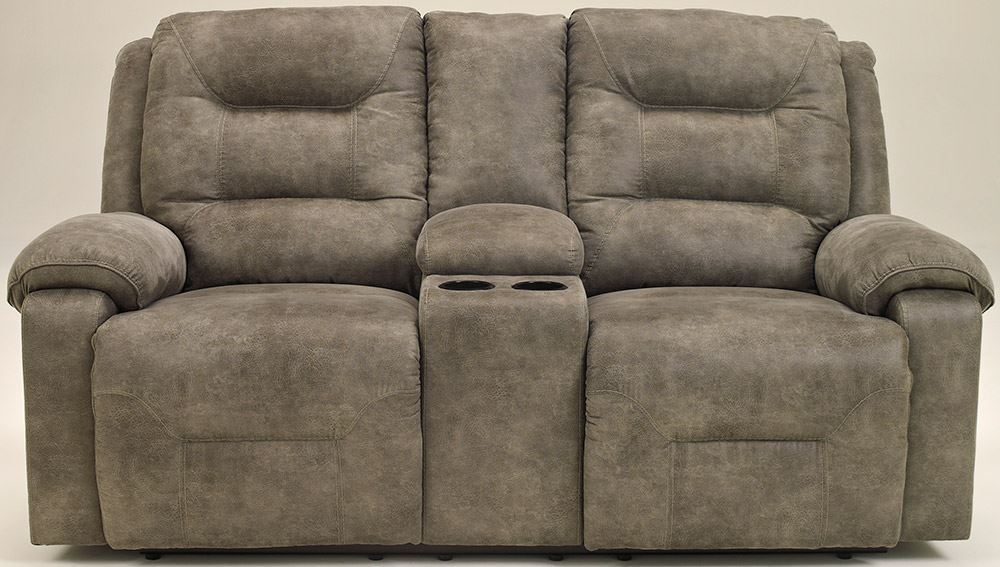 Picture of Rotation Smoke Reclining Console Loveseat