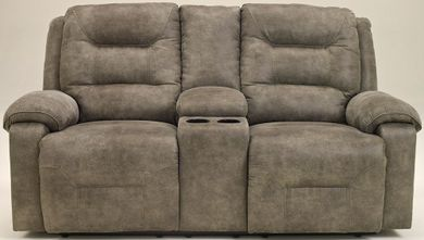 Rotation Smoke Reclining Console Loveseat