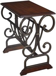 Bronze Metal Chairside End Table