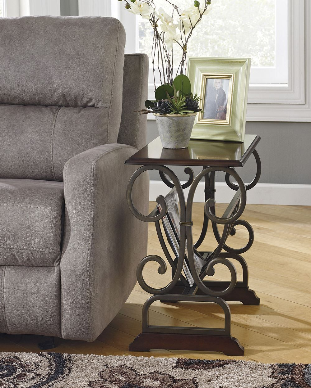 Picture of Bronze Metal Chairside End Table