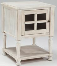 Cottage Accents White Chairside End Table