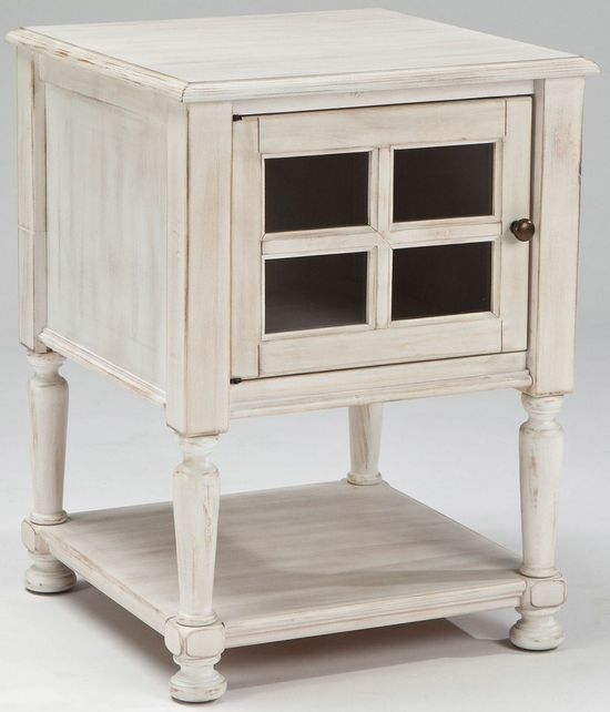 Picture of Cottage Accents White Chairside End Table