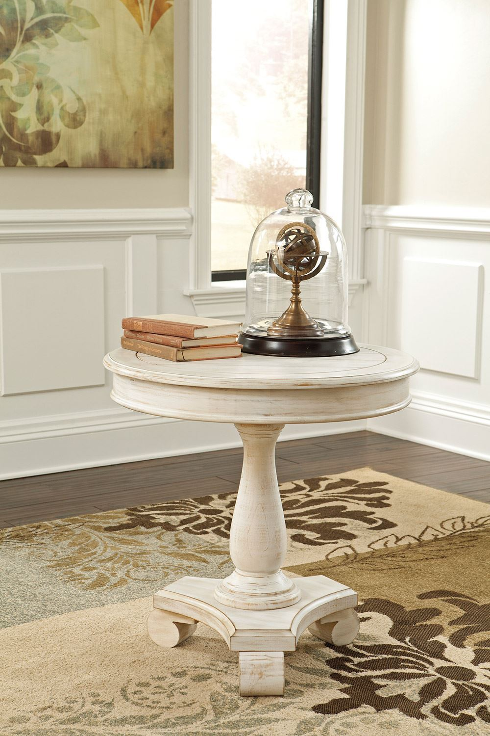 Picture of Cottage Accents White Round End Table
