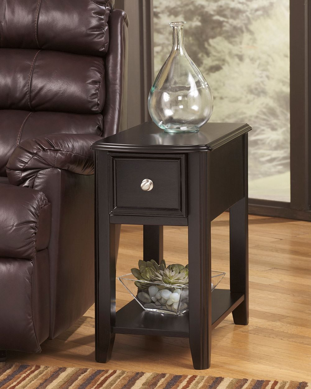 Picture of Dark Finish Chairside End Table