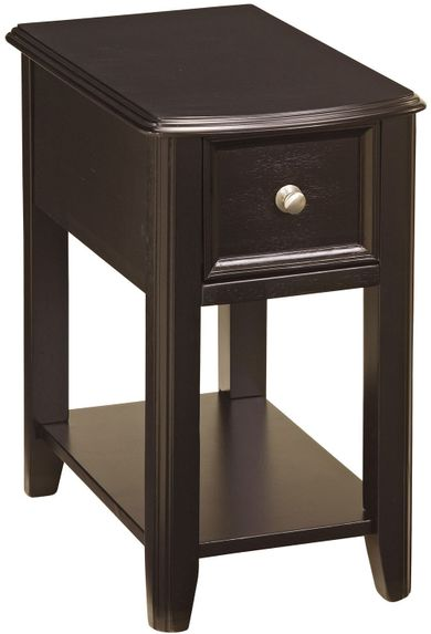 Dark Finish Chairside End Table