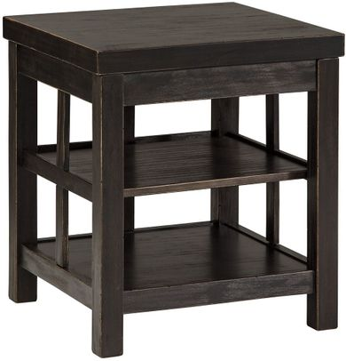 Gavelston Double Shelf End Table