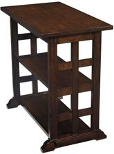 Lattice Brown Chairside End Table