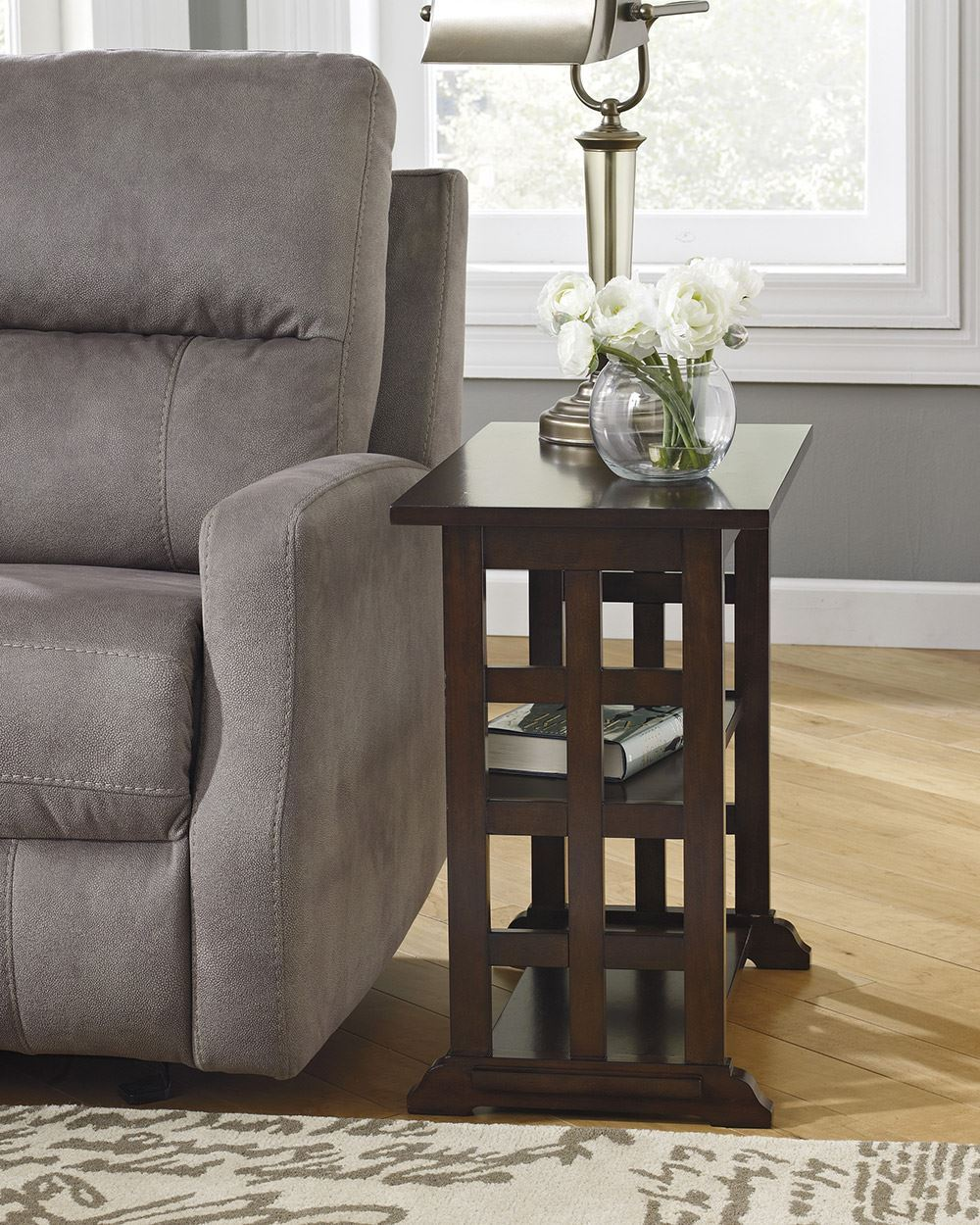 Picture of Lattice Brown Chairside End Table