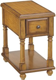 Oak Chairside End Table