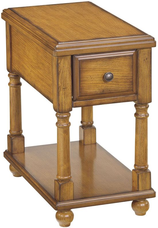 Picture of Oak Chairside End Table