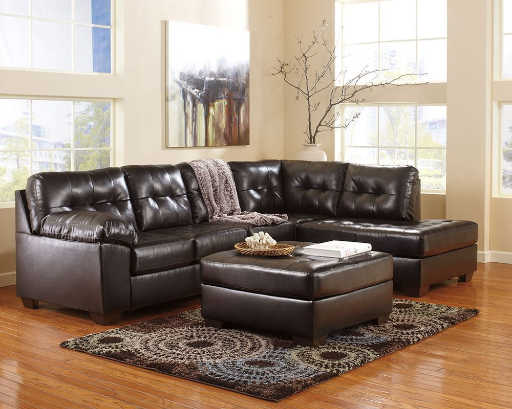 Picture of Alliston DuraBlend Chocolate Sectional