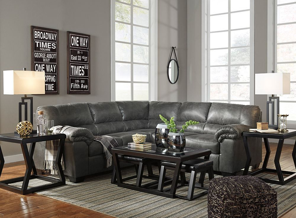 Bladen Slate Two Piece Sectional The Furniture Mart