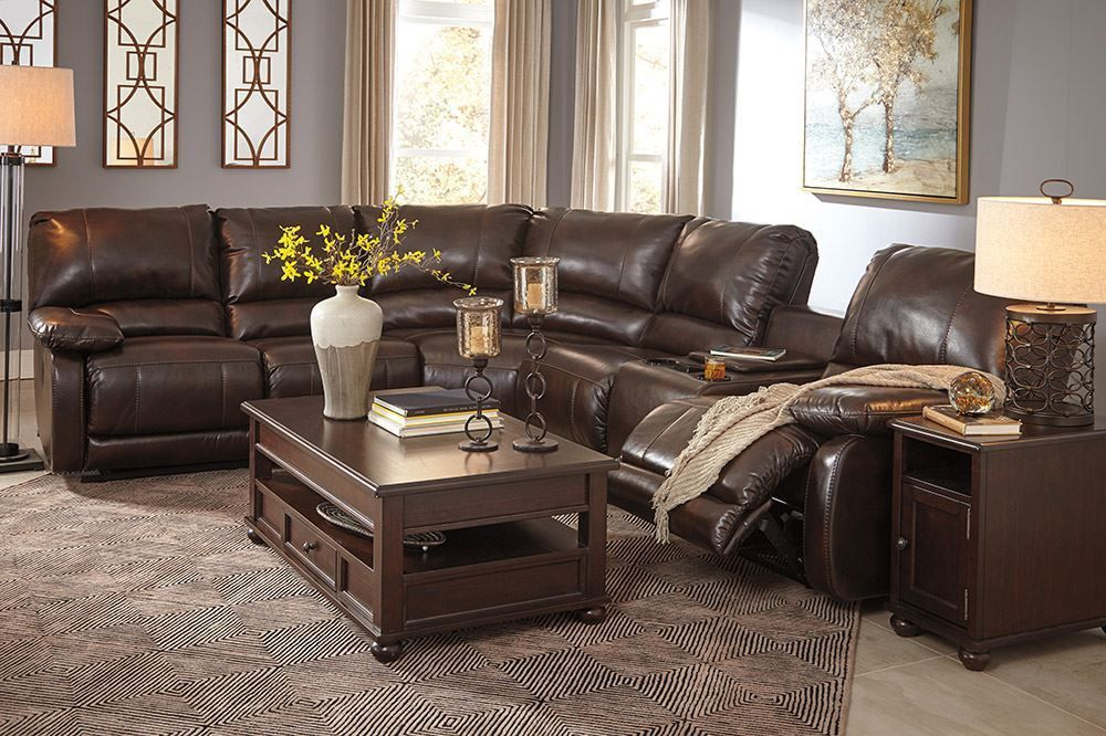 Picture of Halletsville Sadle Power Reclining Sectional
