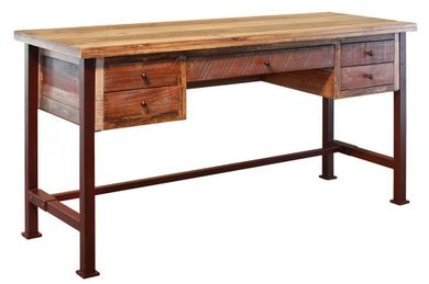 Pine Home Office Desk