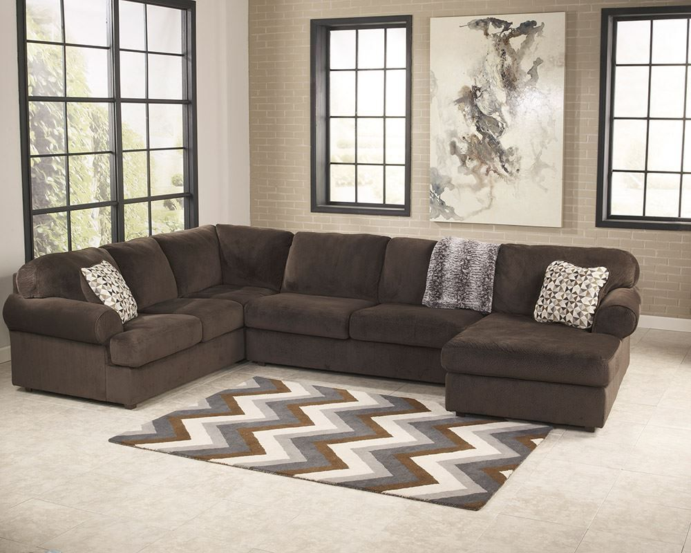Picture of Jessa Chocolate Three Piece Sectional