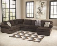 Jessa Chocolate Three Piece Sectional