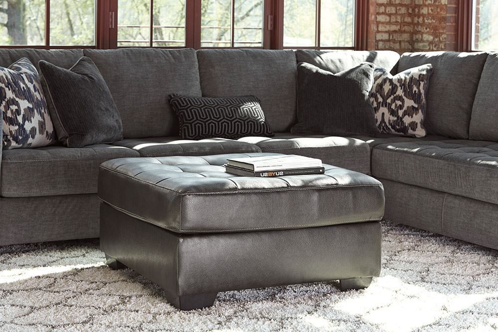 Picture of Owensbe Charcoal Accent Ottoman