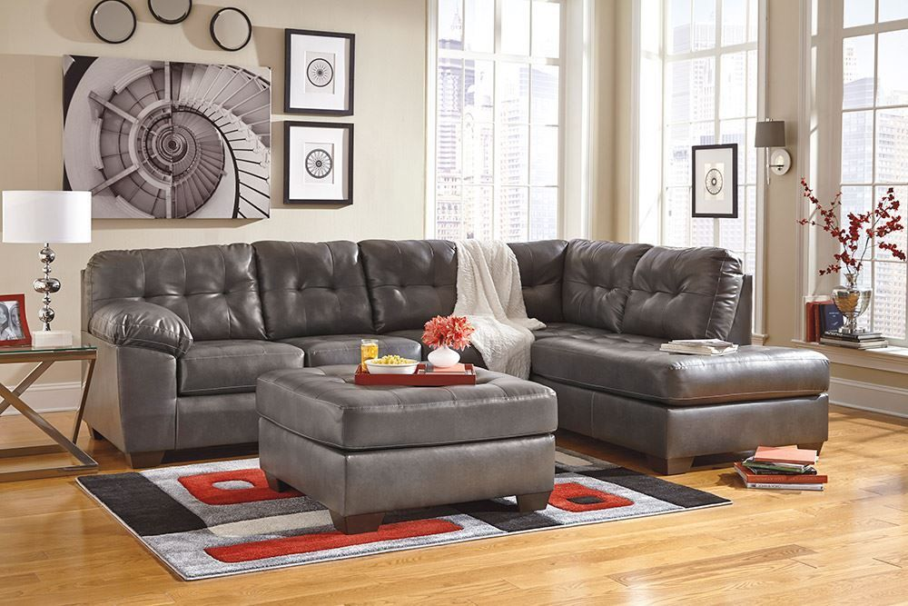 Picture of Alliston Gray Accent Ottoman