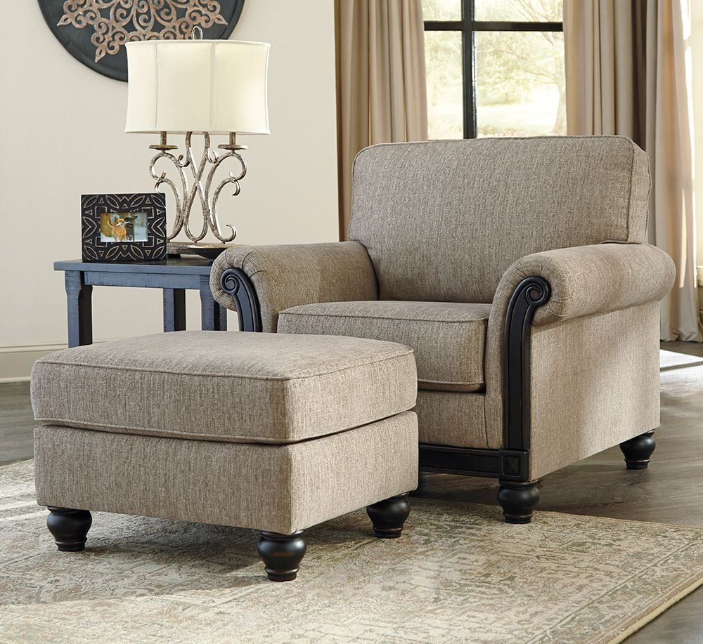 Picture of Blackwood Taupe Ottoman