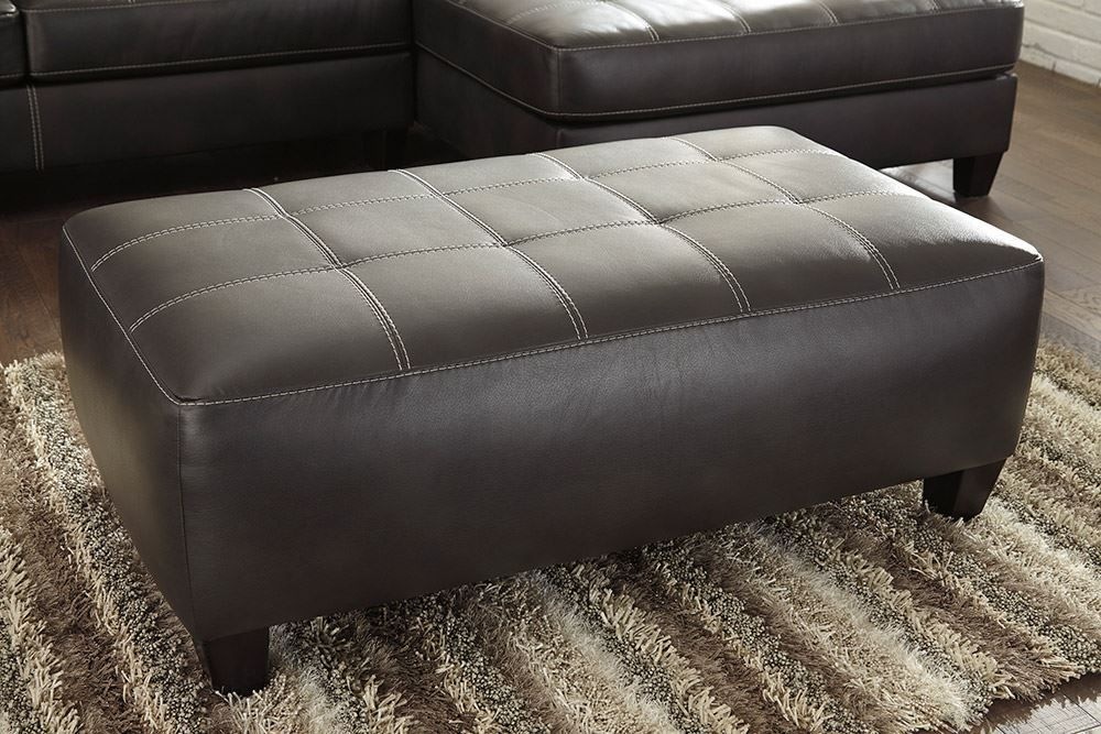 Picture of Nokomis Charcoal Oversized Accent Ottoman