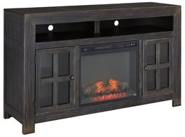 Gavelston Television Stand with Fireplace
