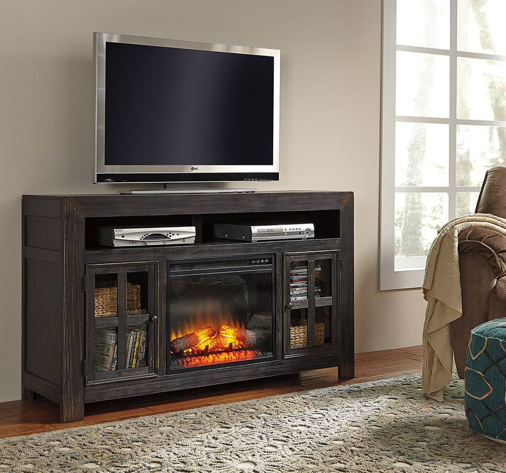 Picture of Gavelston Television Stand with Fireplace