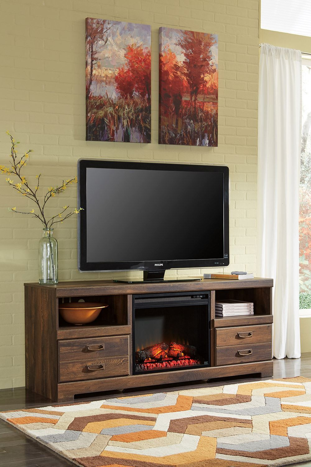 Picture of Quinden Fireplace Television Stand