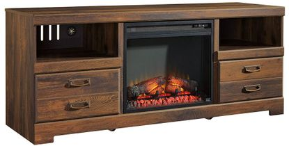 Quinden Fireplace Television Stand
