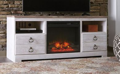 Willowton Fireplace Television Stand