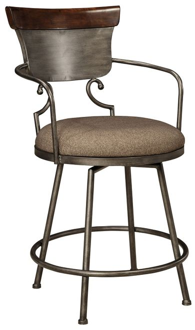 Moriann Upholstered Swivel Stool