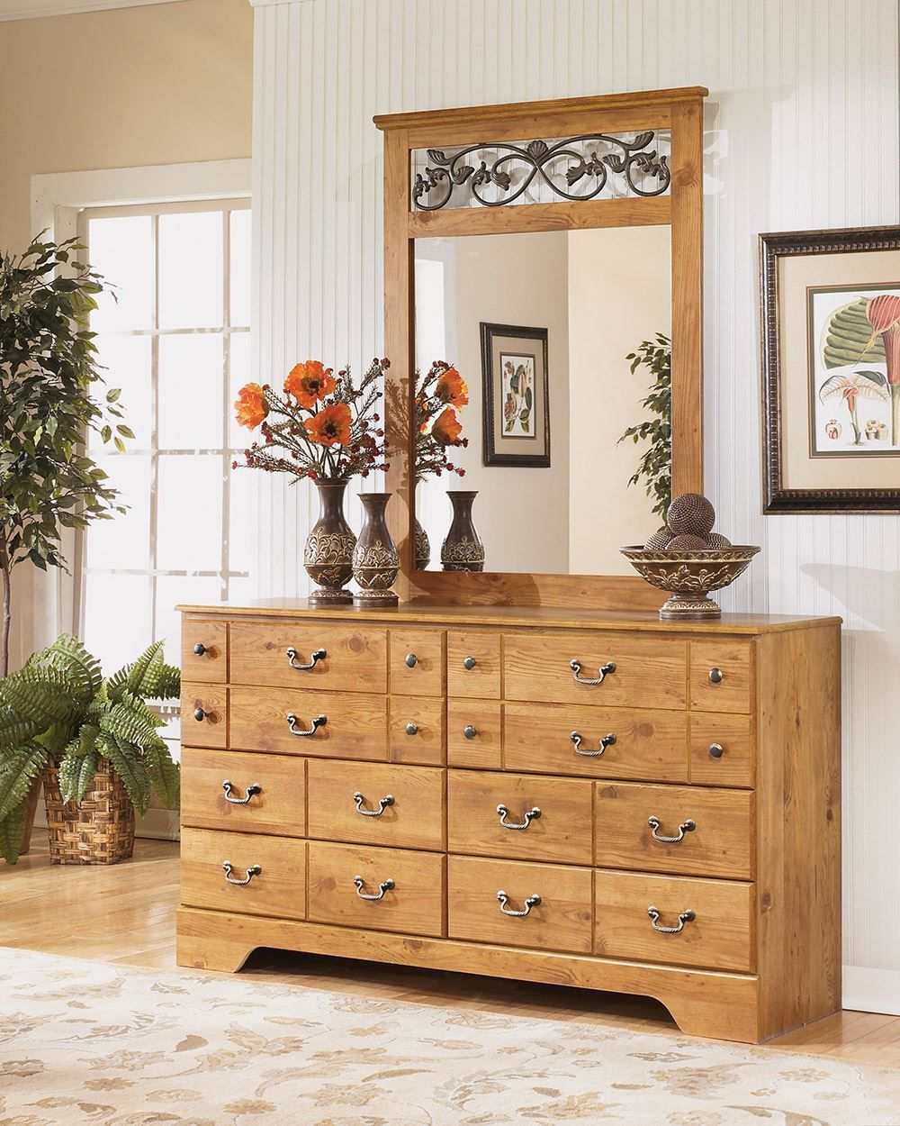 Picture of Bittersweet Dresser with Mirror