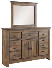 Trinell Master Dresser and Mirror Set