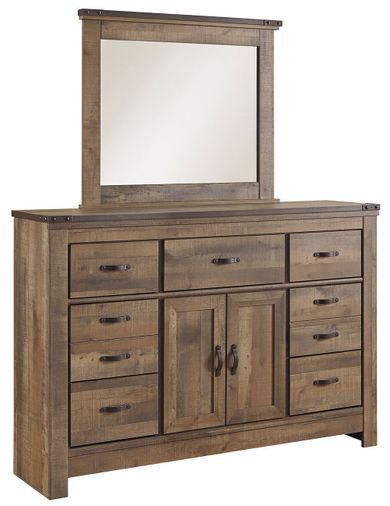 Trinell Master Dresser and Mirror Set