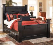 Shay Queen Poster Storage Bed Set