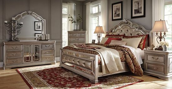 Birlanny Upholstered Queen Bedroom Set | The Furniture Mart
