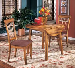 Berringer Drop Leaf Table With Two Chairs