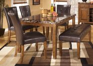 Lacey Table with Four Chairs and Bench