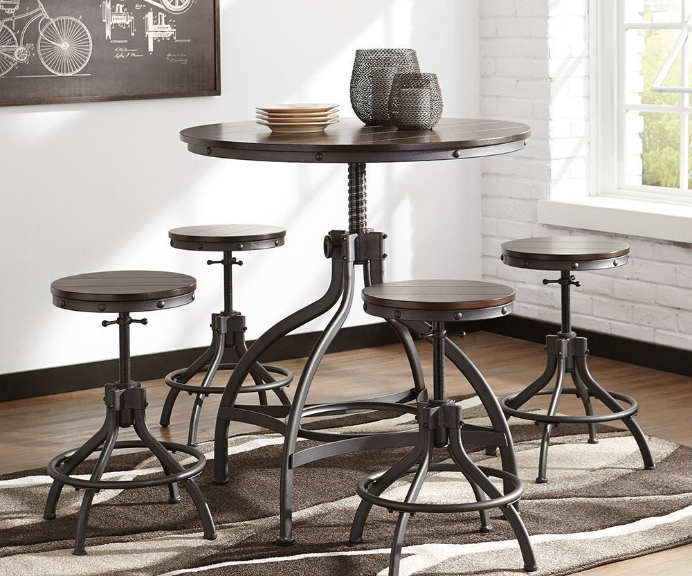 Picture of Odium Adjustable Dining Table with Four Stools
