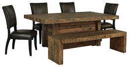 Sommerford Dining Table with Four Chairs and Bench