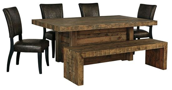 Picture of Sommerford Dining Table with Four Chairs and Bench