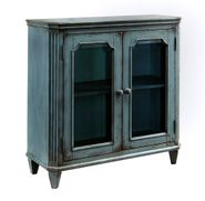 Mirimyn Teal Two Door Accent Cabinet