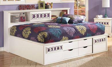 Zayley Full Bookcase Bed Set